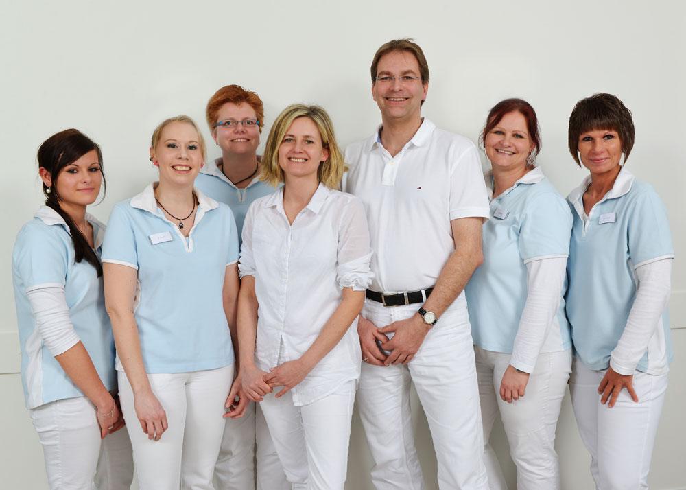 Das Team der Frauenarztpraxis Praxis für Gynäkologie Miriam Sonne und Björn Vollmers in Bad Segeberg